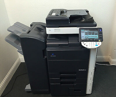 Konica Minolta Bizhub 552 Bw Copier Printer Scanner Fax Finisher Low Use 346k