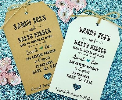 Wedding Abroad, Destination Wedding, Save The Date Invitation, Sandy Toes - Save The Date Destination Wedding