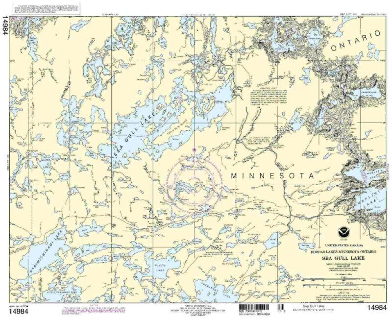 NOAA Chart Sea Gull Lake 9th Edition 14984