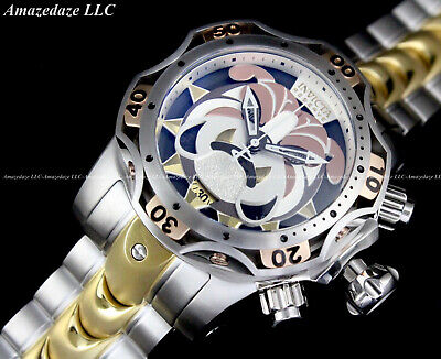 NEW Invicta Men Reserve 52mm Venom Gen III BULLDOG SWISS Chrono Gold 2Tone Watch