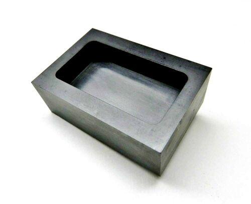 5 oz Graphite Ingot Mold Machined For Gold Silver Bars Melting Refining Smelting