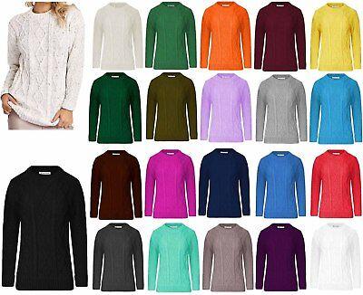 Neuer Frauen Damen Strick Kabel Pullover Sweater Top 8 -14 ()