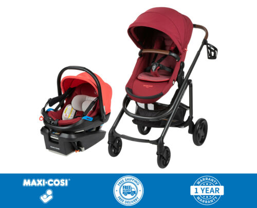Maxi Cosi Tayla XP Travel System Stroller With Coral XP Car Seat Red - New