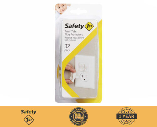 Safety 1st Press Tab Plug Protectors Outlet Protector (32 pk) New - White