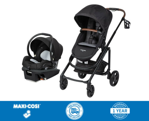 Maxi Cosi Tayla XP Travel System Stroller With Coral XP Car Seat Black - New