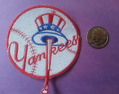 Vintage New York Yankees logo embroidered patch 3 inch by 3 inch mint