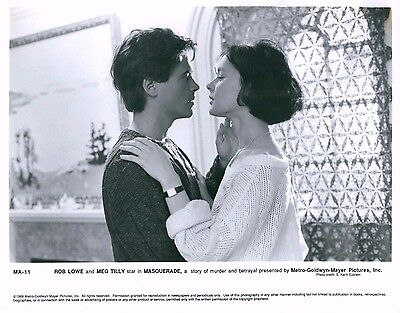 Rob Lowe   Meg Tilly Masquerade Unsigned Glossy 8X10 Movie Promo Photo