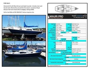 Westwind 24' sailboat