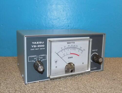 Yaesu YS-200 SWR / Watts Meter 1.8-150MHz Great Condition Free Shipping
