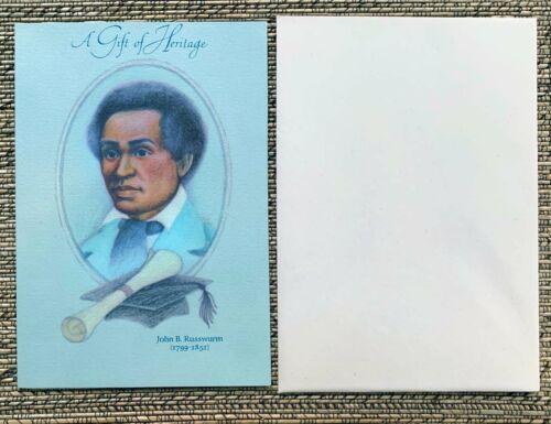 1974 HALLMARK John Russwurn Graduation Card BLACK AMERICANA  UNUSED