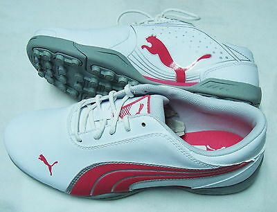 Puma Super Cell Fusion Ice Jr White/rouge Red/puma Silver Size 5.5 186066 03