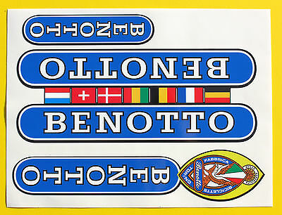 Benotto Vintage Style Campagnolo Cycle Frame Decals Stickers