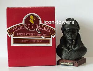 SHERLOCK HOLMES - 9cm Bronze Effect Handmade Bust / Paperweight - Superb Quality