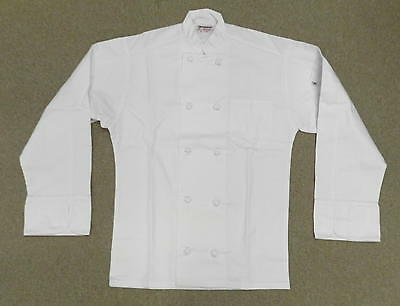 Chef Jacket White Xl Uncommon Threads 403 Cloth Knot Button Uniform Coat New