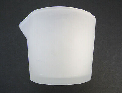 "EVA SOLO DESIGN by TOOLS, WHITE FROSTED GLASS FLOWER POT BASE (PITCHER) 3-3/16""h"