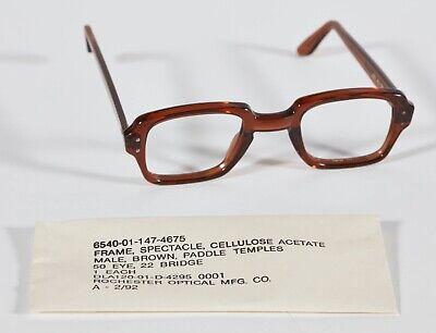 NEW Military Surplus Vintage Eyeglass Frames BCG Birth Control Glasses FREE -