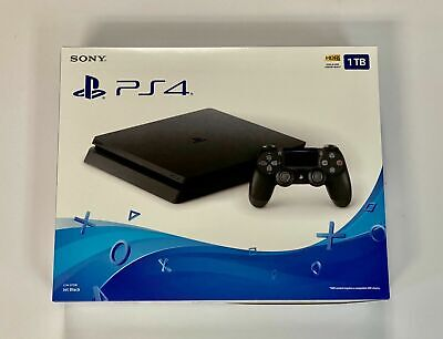 NEW Sony PlayStation PS4 1TB Slim Gaming Console Black - CUH-2215B