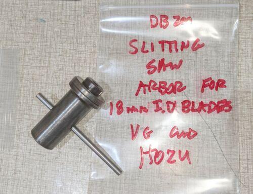 Emco Unimat DB200 Lathe M12 x 1 Slitting Saw Arbor for 18mm I.D. Blades H02U
