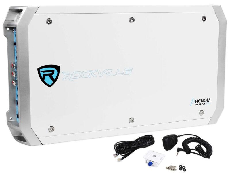 Rockville RXM-S6 Marine/Boat 2600 Watt 6 Channel Amplifier + PA Microphone