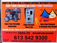 Keep your furnace running during a power outage $750