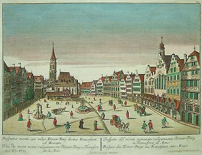 Guckkastenblatt von Frankfurt am Mayn - Römerberg - Original von Probst um 1770