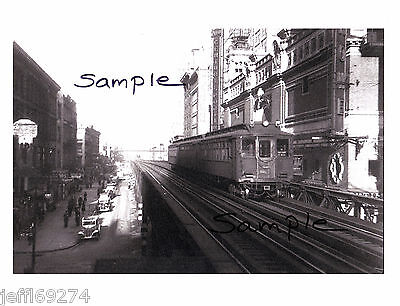 NYC 6th AVENUE ELEVATED SUBWAY TRAIN at 42nd STREET PHOTO 1938 Free (42nd Street 6th Avenue)