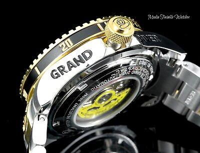 Invicta 47mm Grand Diver 2 Gen II Automatic BLACK Dial Two Tone Bracelet Watch
