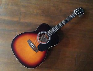 SX Accoustic Parlour / Folk Guitar Vintage Sunburst RRP £129.99 UK SELLER