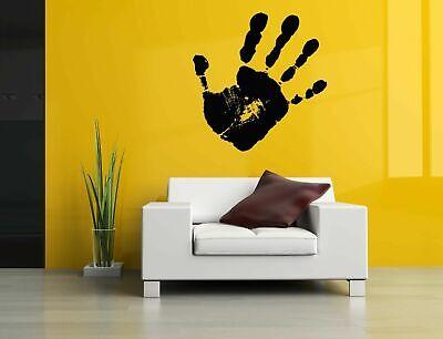Mad Vinyl Sticker Room Decals Mural Design Art Living Room Hand Print bo1249