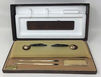 Cross Double Desk Set 10k Gold Filled Pen And Pencil Vintage With Box