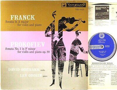 VANGUARD 1954 Franck Prokofiev DAVID OISTRAKH Violin Sonatas OBORIN VRS-6019 EX