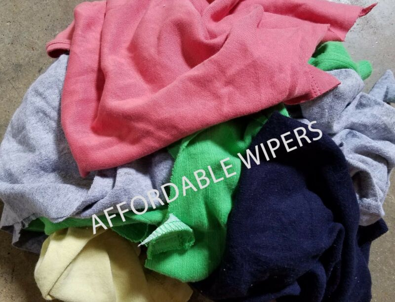 COLOR KNIT SHOP CLEANING TOWELS WIPING RAGS/CLOTH - 10 LBS BOX - ~100 Pieces