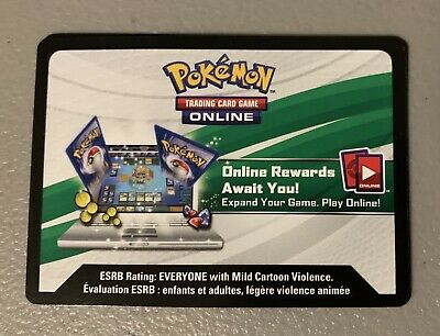 Pokemon TCG Online Code Card For Reshiram & Charizard GX Figure Collection Box