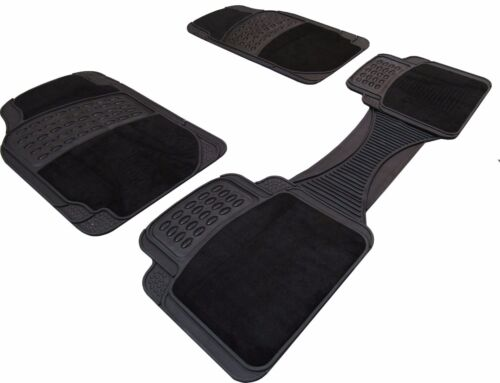 Universal Full 5 pce Car Mat Set Non-slip Heavy Duty Rubber Hard Wearing Carpet