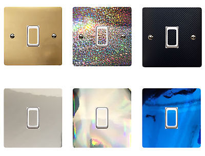 Chrome Light Switch (Light Switch Stickers Self-Adhesive Covers Vinyl Stickers - Glitter, Chrome)