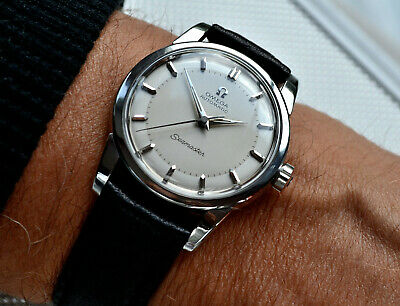 CLASSIC MEN'S OMEGA SEAMASTER AUTO 500 STUNNING 2 TONE DIAL StSTEEL 1956 VINTAGE