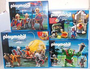 PLAYMOBIL-6004-6005-6006-6160-Cavalieri-del-leone-falcone-Troll-Nani-Carrozza