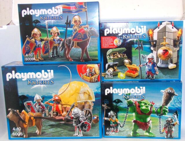 PLAYMOBIL 6004 6005 6006 6160 Lion knights Falcon knight Troll Dwarves Wagon NEU