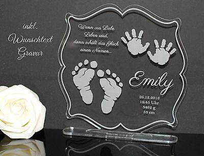 1 Aufsteller Etikettenform Baby Taufe Geburt Wunschgravur Hochzeit Valentinstag