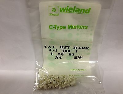 Wieland Electric Electrovert C-type Clip On Markers C4p1 C4p-1 Cable Harnessing