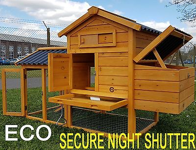 CHICKEN COOP RUN HEN HOUSE POULTRY ARK HOME NEST BOX COUP COOPS RABBIT HUTCH