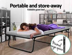 Guest Folding Bed Portable Single Size Mattress Camping Outdoor Brisbane City Brisbane North West Preview