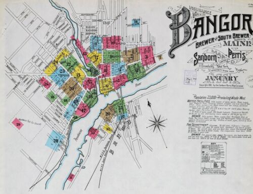 Bangor, Maine ~Sanborn Map© sheets~99 maps  on a CD made in 1884 to 1906