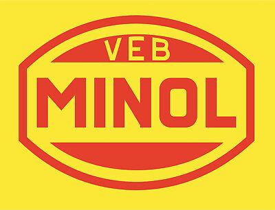 DDR VEB Kombinat MINOL Poster Plakat A3 Ostalgie GDR online kaufen