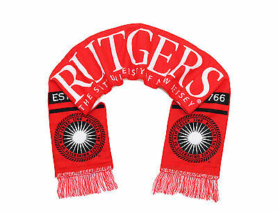 Rutgers University Scarf   Scarlet Knights Woven With Seal