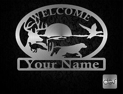Dxf File For Plasma Router Laser - Cdr Ai Svg Files - Welcome Sign Deer