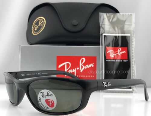 Ray-Ban Predator RB4115 601/9A Sunglasses Black Green Polarized Authentic 57mm