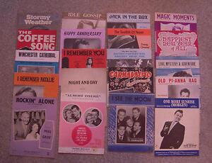 Lot of 20 Single Sheet Music Sheets - Great Value Bundle - Lot 04