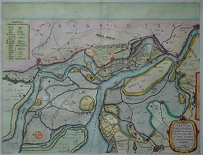 Antwerpen Zandvliet - Tabula Castelli ad Sandflitam - Willem Janszoon Blaeu 1650