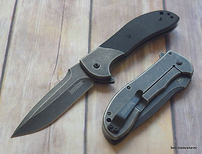 Kershaw Scrambler Spring Assisted Knife With Pocket Clip   Razor Sharp   Blade
